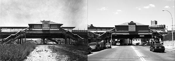 207th Street IRT Station, Manhattan, 1906 and 2006. (New York Transit Museum. Subway Style. New York: Stewart, Tabori & Chang, 2004.)